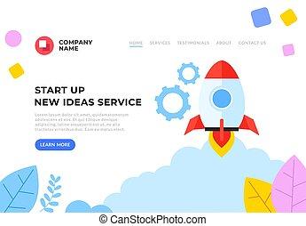 Start up new business flat graphic design banner poster vector concept illustration