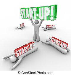 Start-Up Person Holding Word Best Business Person...