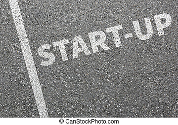 Start-up startup start up business concept launch launching founding new company