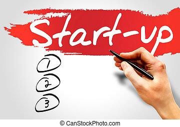 Start Up blank list, business concept