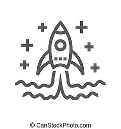 Start Up Thin Line Vector Icon