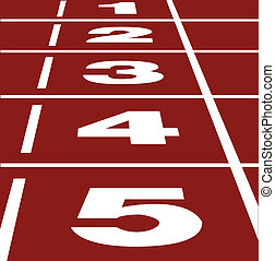 Perspective vector of start or finish position on running track