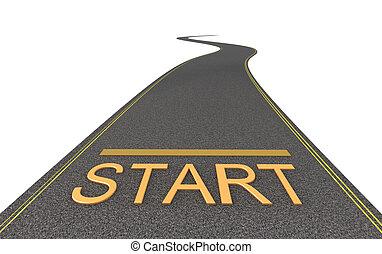 Start way. Isolated