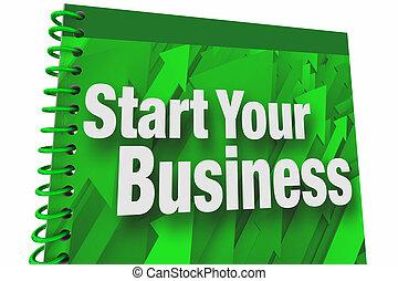 Start Your Business Book Instruction Manual New Company Entrepreneur 3d Illustration