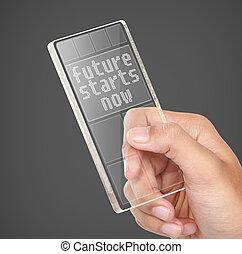 startar, nu, begrepp, framtid