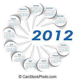 startar, sunday), vektor, kalender, (week