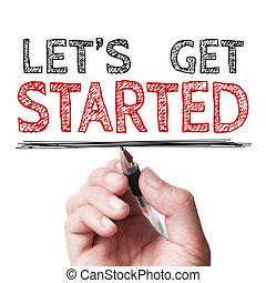 started, dejar, nosotros, conseguir