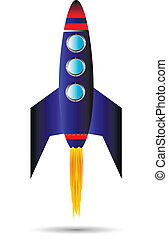startend, rode raket