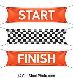 Starting and finishing lines banner