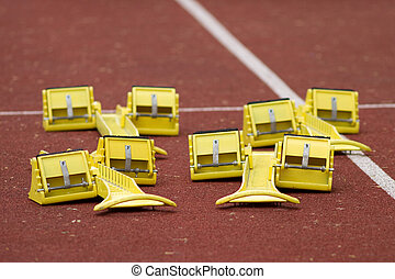 starting blocks in track and fiel