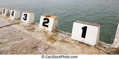 Starting Blocks - Number starting blocks at Merewether Ocean...
