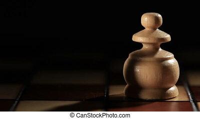 Starting chess game. Black and white pawns.