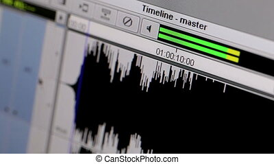 Starting of the music track.