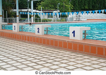 Starting point in a swimming pool