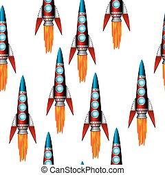 Starting red rocket.