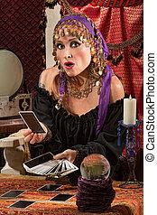 Startled Tarot Card Reader