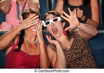 Startled Women in Theater