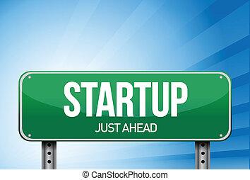 startup , σχεδιάζω , δρόμοs , εικόνα , σήμα