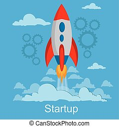 startup and business launch concept