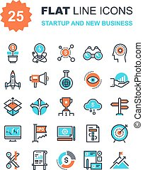 Startup and New Business - Abstract vector collection of...