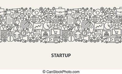 Startup Banner Concept. Vector Illustration of Line Web ...