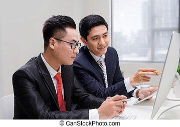 startup, branche partner, arbejde, ind, desktop