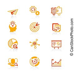 Startup business icons || JUICY series