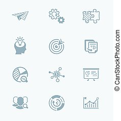 Startup business icons || TECH series - Startup business...