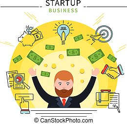 Startup Business Line Concept - Startup business line...