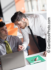startup business people group working at office