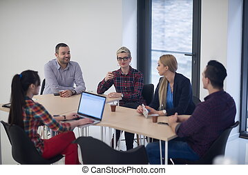 startup business team on meeting