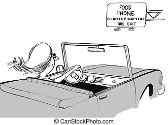 Startup Capital - Cartoon of businesswoman entrepreneur ...