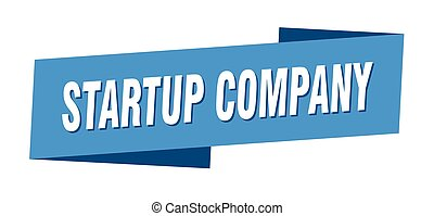 startup company banner template. startup company ribbon ...
