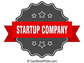 startup company label. startup company isolated seal. ...