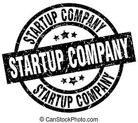 startup company round grunge black stamp