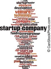 Startup company-vertical - Startup company word cloud ...