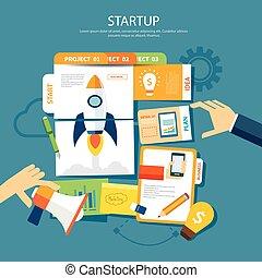 startup concept flat design