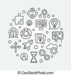 Startup concept illustration. Vector start-up symbol made...