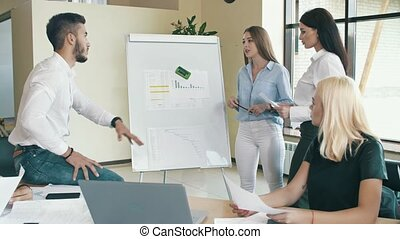 Startup concept. People working together at office