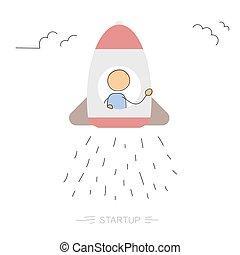 Startup- drawing running man