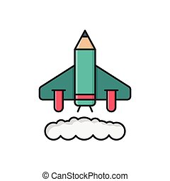 startup  flat color icon