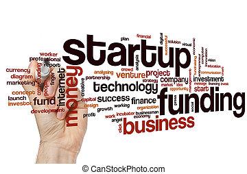 Startup funding word cloud