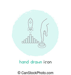 Startup icon line element. illustration of startup icon line isolated on clean background for your web mobile app logo design.