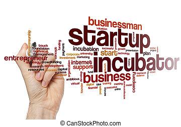 Startup incubator word cloud