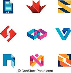 Startup innovation business innovation logo icon set next...