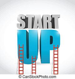 startup ladder illustration design over a white background