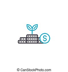 Startup of business vector thin line stroke icon. Startup of business outline illustration, linear sign, symbol concept.
