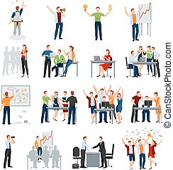 Startup People Flat Icons Collection