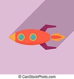 Startup rocket icon. Flat illustration of startup rocket vector icon for web design