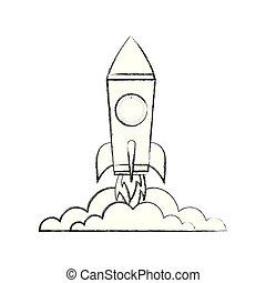 startup rocket isolated icon vector illustration design